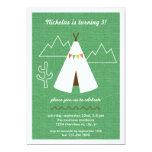 Native American Tipi Birthday Party Invitation