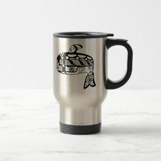 Native American Tlingit Whale Travel Mug