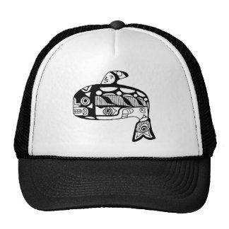 Native American Tlingit Whale Trucker Hat
