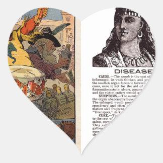 Native American Tonic Heart Sticker