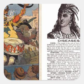 Native American Tonic Square Sticker