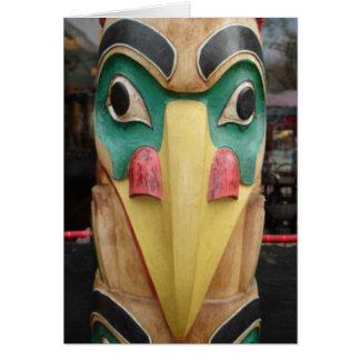 Native American Totem Greeting Card
