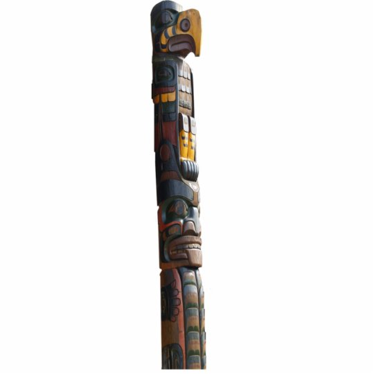 Native American Totem Pole 2 Sculpted Magnet