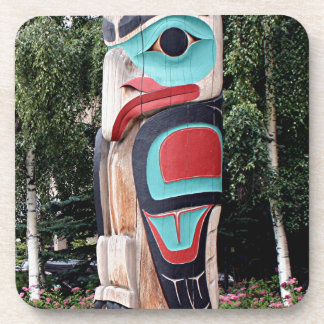 Native American Totem Pole,  Anchorage, Alaska Coaster