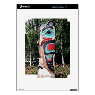 Native American Totem Pole,  Anchorage, Alaska Decal For The iPad 2