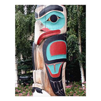 Native American Totem Pole,  Anchorage, Alaska Letterhead
