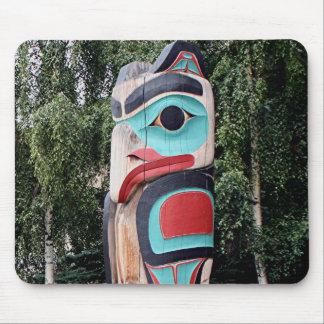 Native American Totem Pole,  Anchorage, Alaska Mouse Pad
