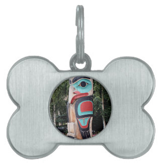 Native American Totem Pole,  Anchorage, Alaska Pet Tag