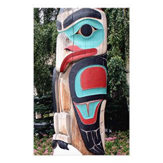 Native American Totem Pole,  Anchorage, Alaska Stationery