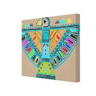 Native American Totem Pole Canvas Wall Art