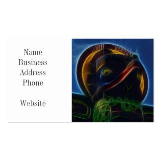Native American Totem Pole Fractal Art Design Business Card