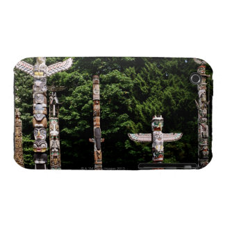 Native American totem poles, Vancouver, British iPhone 3 Cover
