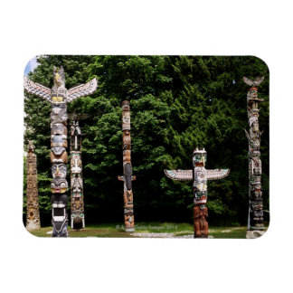 Native American totem poles, Vancouver, British Magnet
