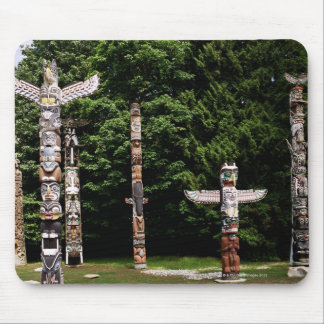 Native American totem poles, Vancouver, British Mouse Pad
