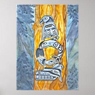 Native American Totem Print