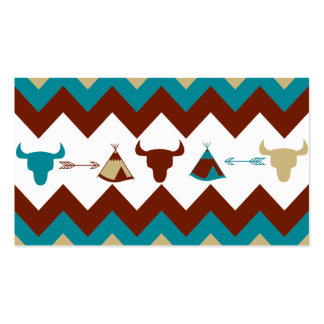 Native American Tribal Chevron Skulls Tipi Arrows Business Card Templates