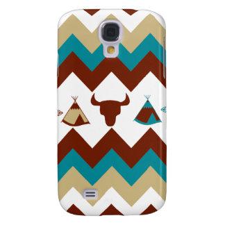 Native American Tribal Chevron Skulls Tipi Arrows Galaxy S4 Case