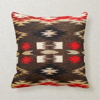 Native American Tribal Design Print Throw Pillow