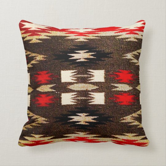 Native American Tribal Design Print Throw Pillow Zazzle Com