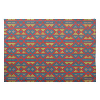 Native American Tribal Fabric Aztec Design Of Placemats