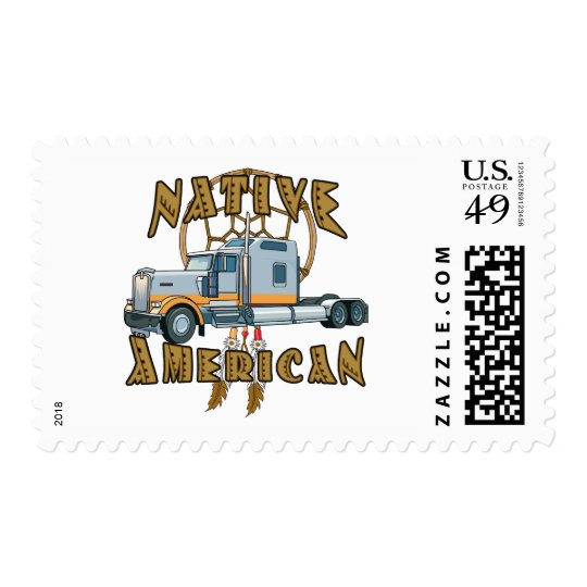 Native American Trucker Postage