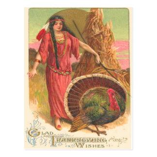 Native American Turkey Post Card