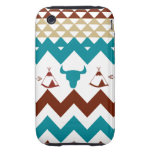 Native American Turquoise Red Chevron Tipi Skulls Tough iPhone 3 Covers