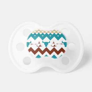Native American Turquoise Red Chevron Tipi Skulls Pacifier