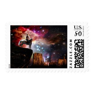 Native American Universe Postage Stamp