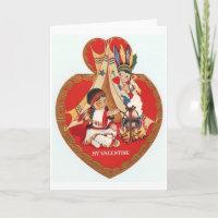 Native American Valentine Holiday Card