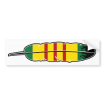 Native American Vietnam Veteran Bumper Sticker
