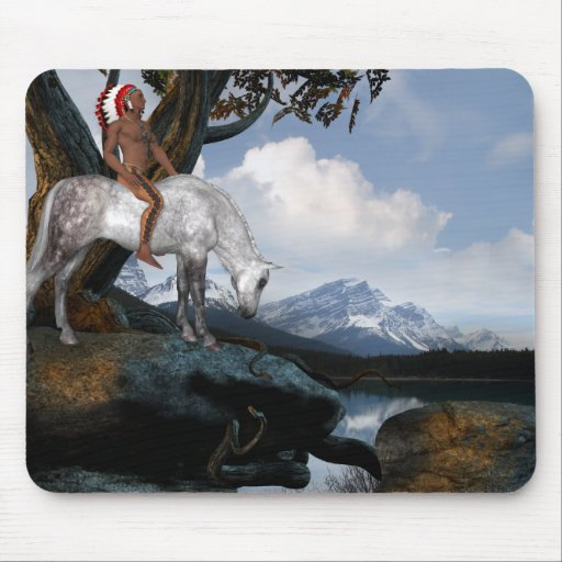 Native American View Mouse Mat