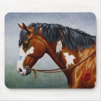Native American War Horse Mouse Pad