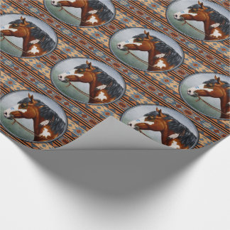 Native American War Horse Wrapping Paper