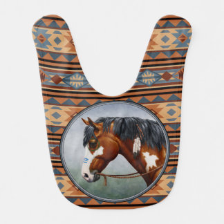 Native American War Horse Baby Bibs