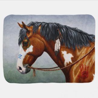 Native American War Horse Swaddle Blankets