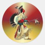 Native American Warrior #5 Classic Round Sticker
