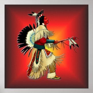 Native American Warrior #6 Poster