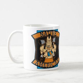 Native American Warrior Classic White Coffee Mug