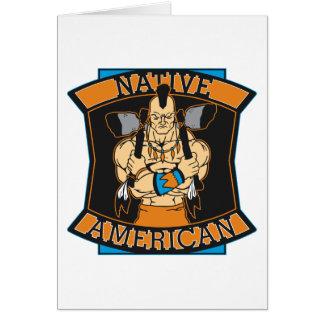 Native American Warrior Greeting Card
