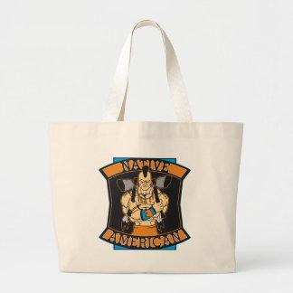 Native American Warrior Jumbo Tote Bag