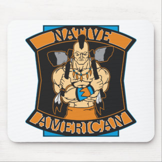 Native American Warrior Mouse Pad