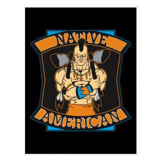 Native American Warrior Postcard