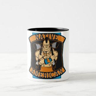 Native American Warrior Two-Tone Coffee Mug