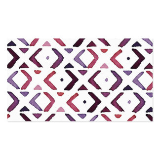 Native American Watercolor Pattern Business Card Template