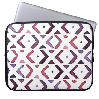 Native American Watercolor Pattern Laptop Sleeves