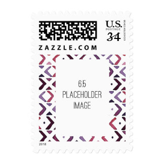 Native American Watercolor Pattern Postage