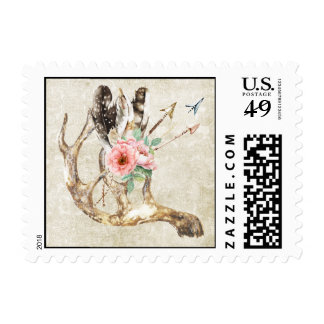 Native American Wedding Postage Stamp