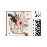 Native American Wedding Postage Stamp with Antlers