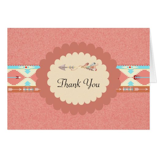 Native American Wedding Thank You Card Zazzle